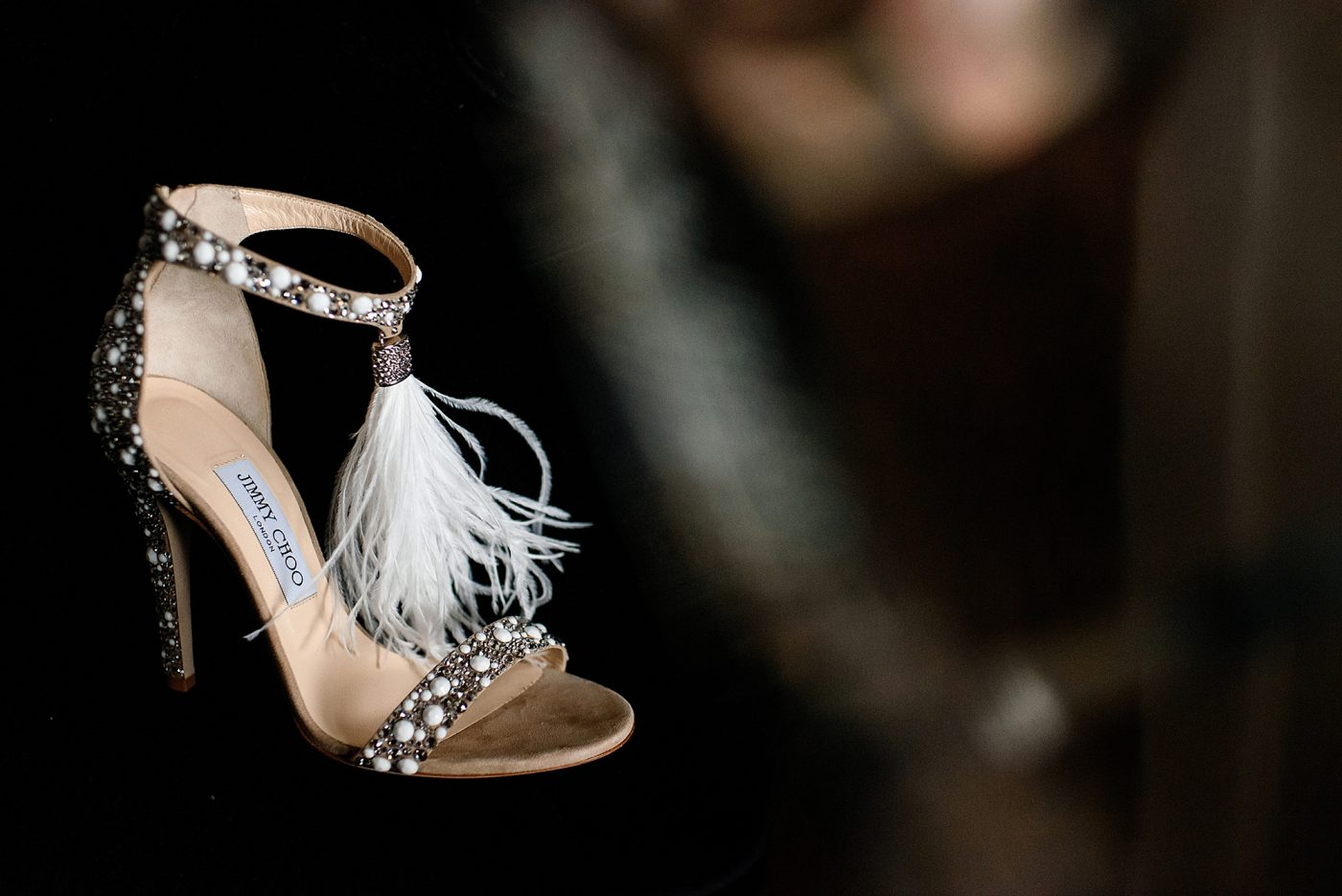 jimmy choo shoes with feathers