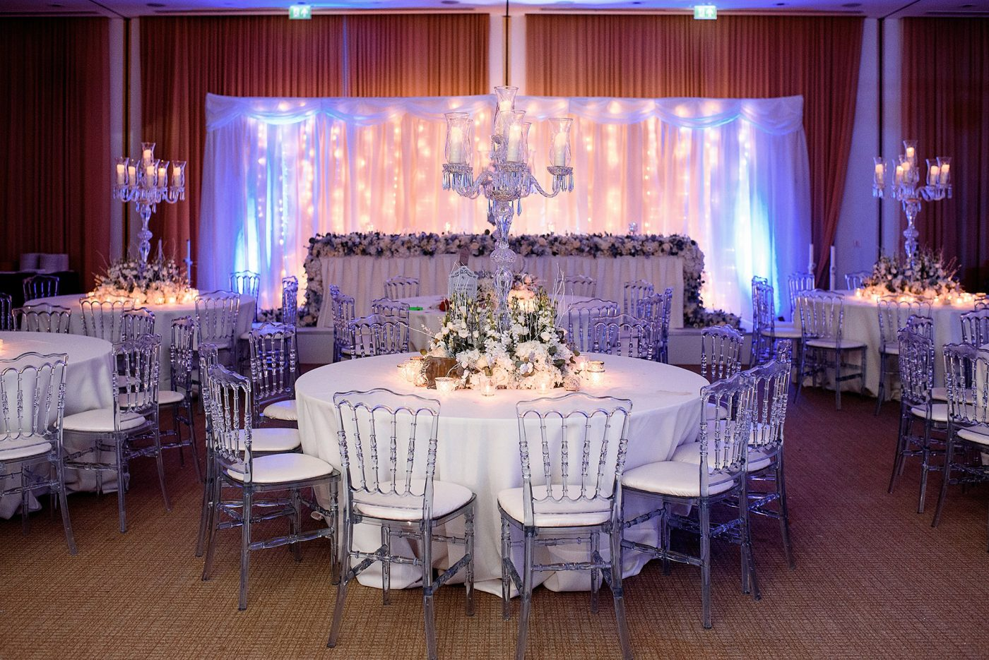 the amber suite at winter wedding