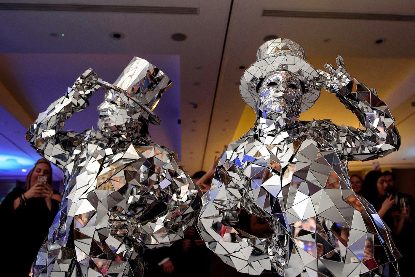 mirror men at quirky watford wedding