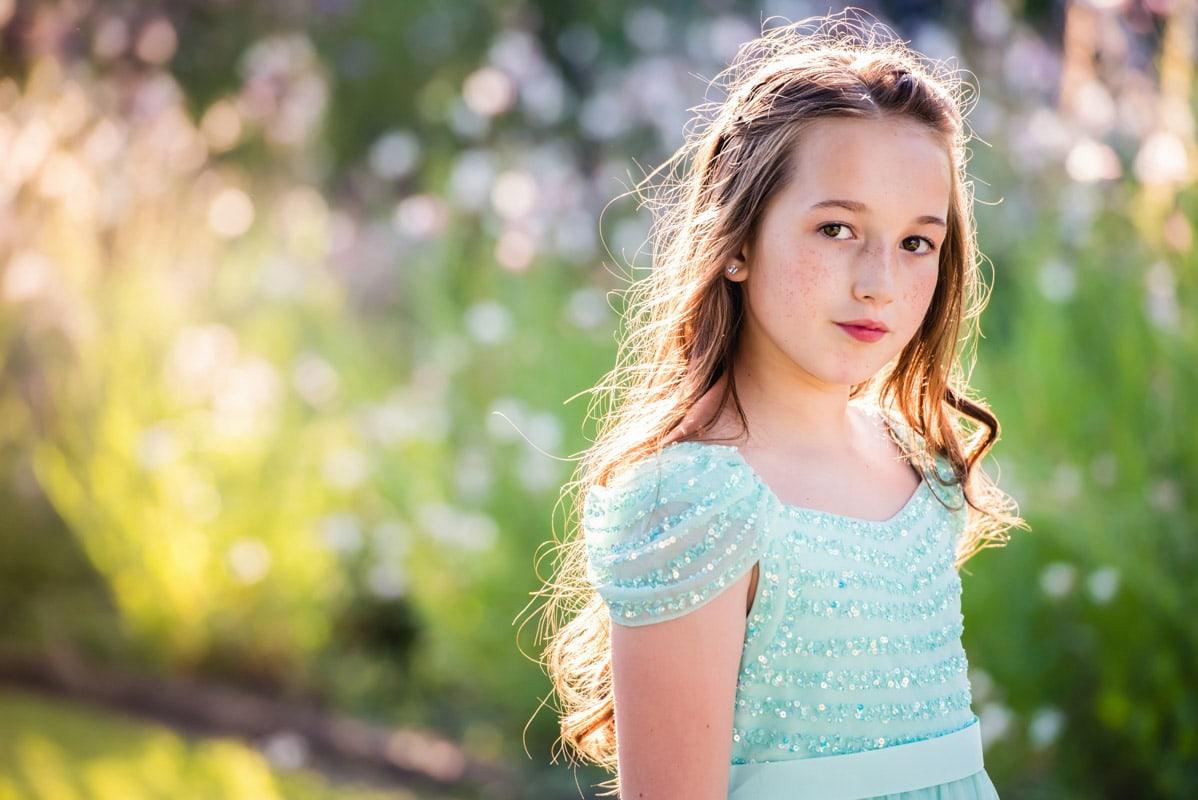 Flower girl at Gaynes Park