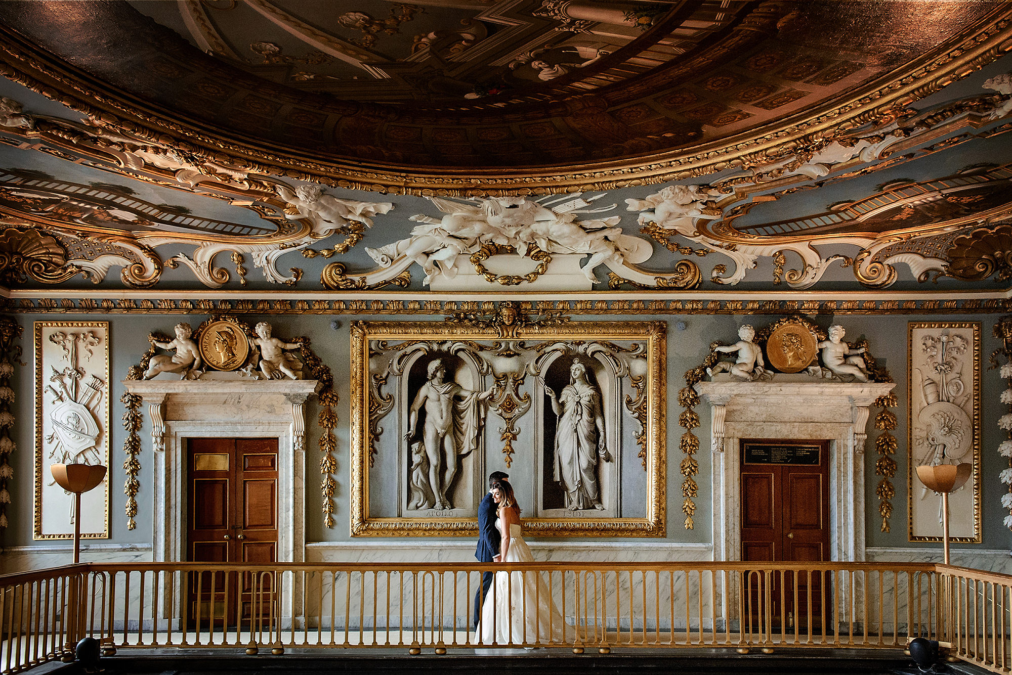 couple portrait in the great hall