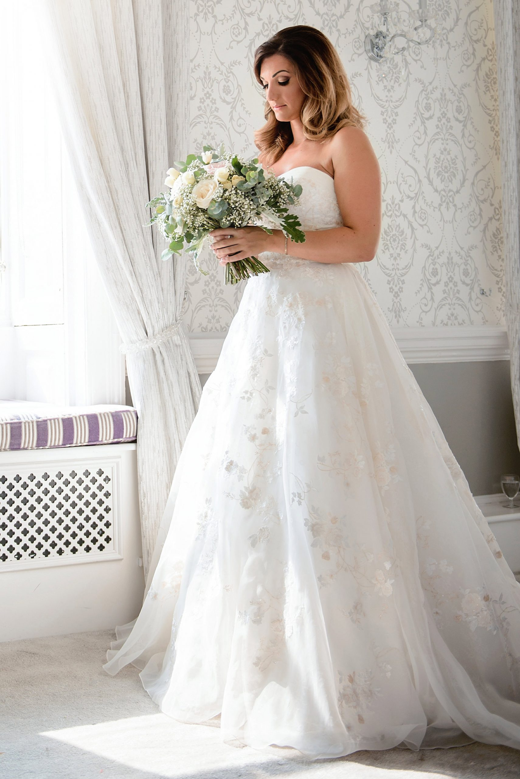 bridal portrait in the suite at Moor Park