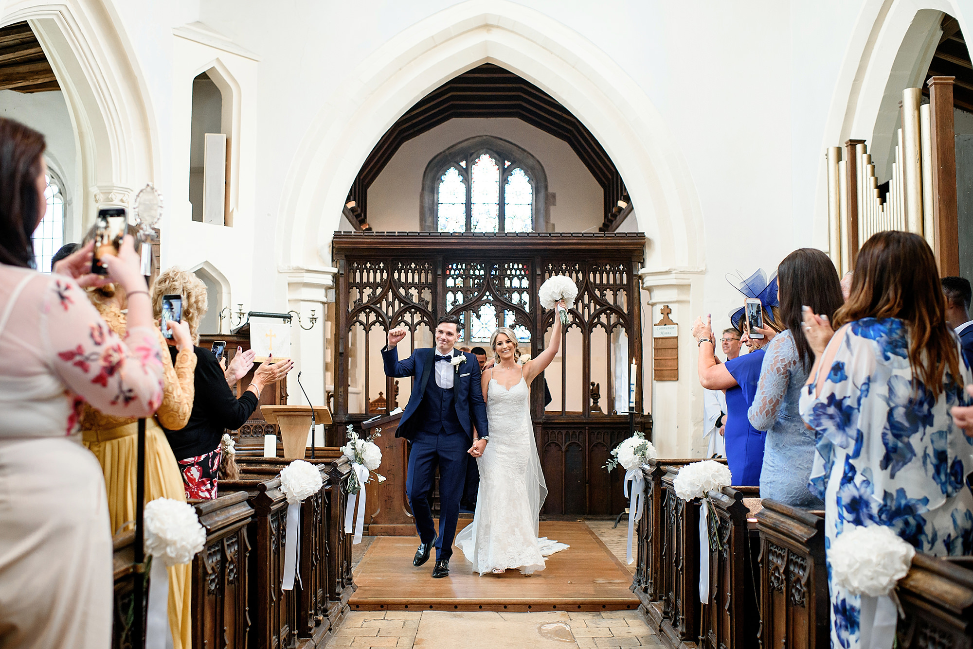 bwedding at st marys church in comberton