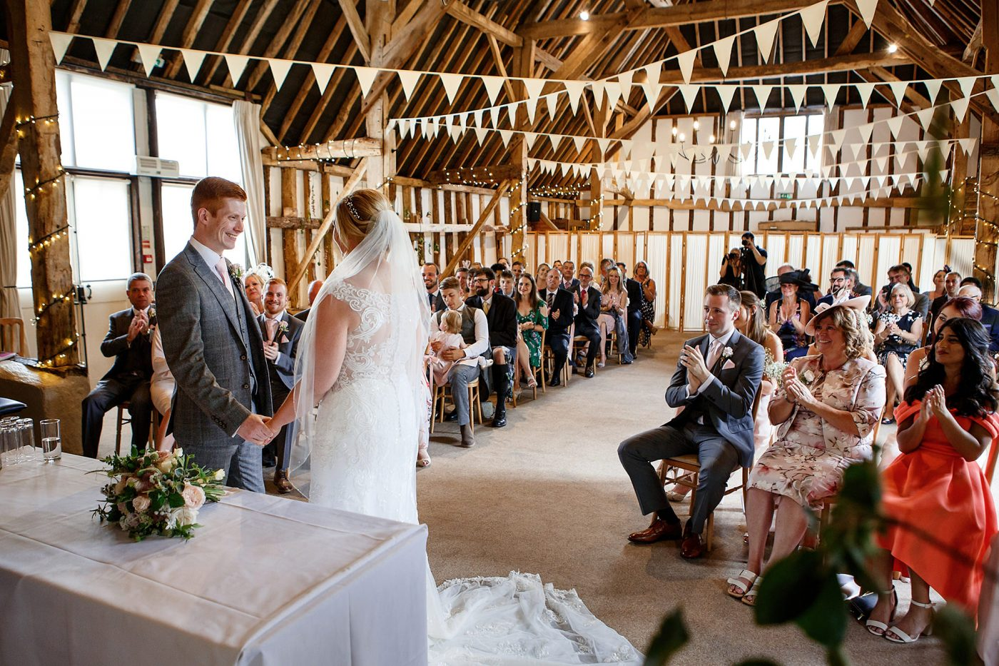 rustic barn wedding ceremony
