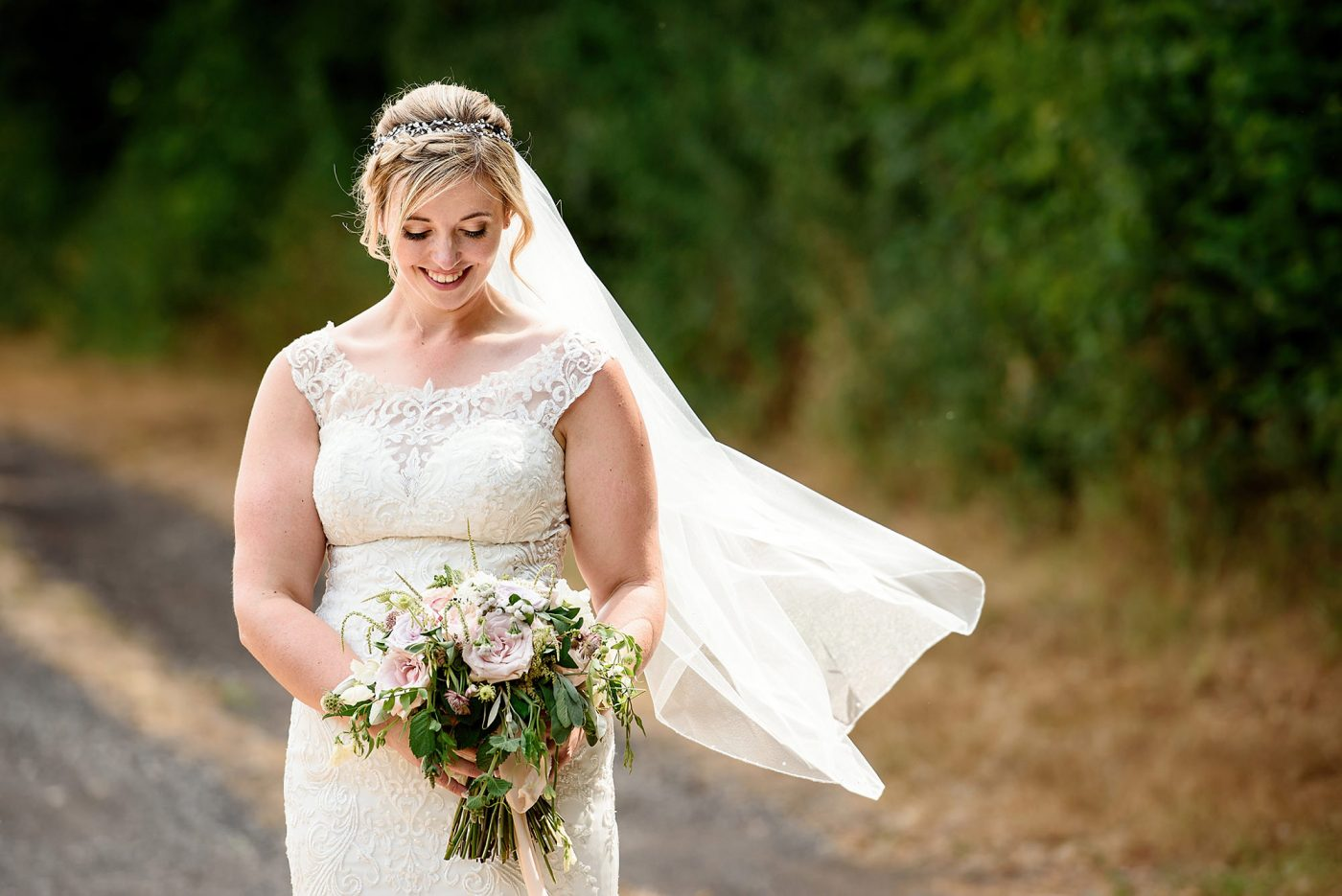 bridal portrait on a farm