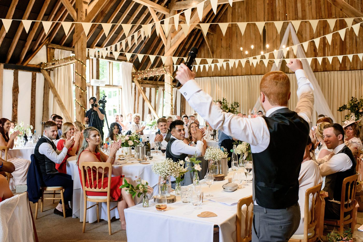 best man toasts to the happy couple