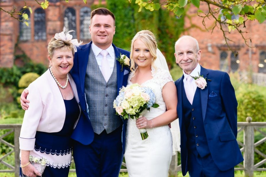 Hatfield House wedding group portrait