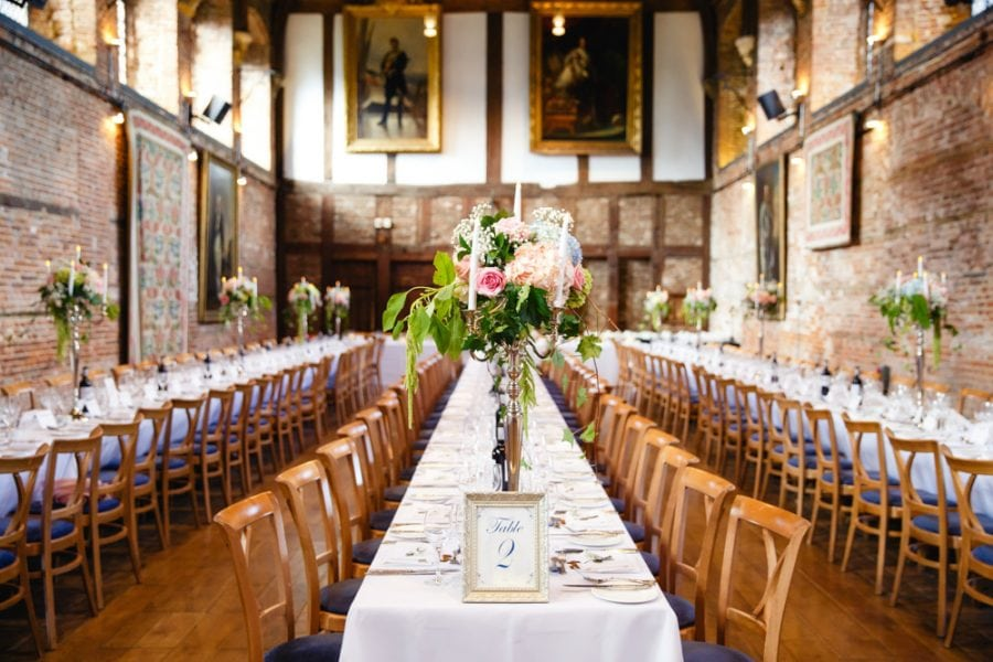 Floral centrepieces hatfield house