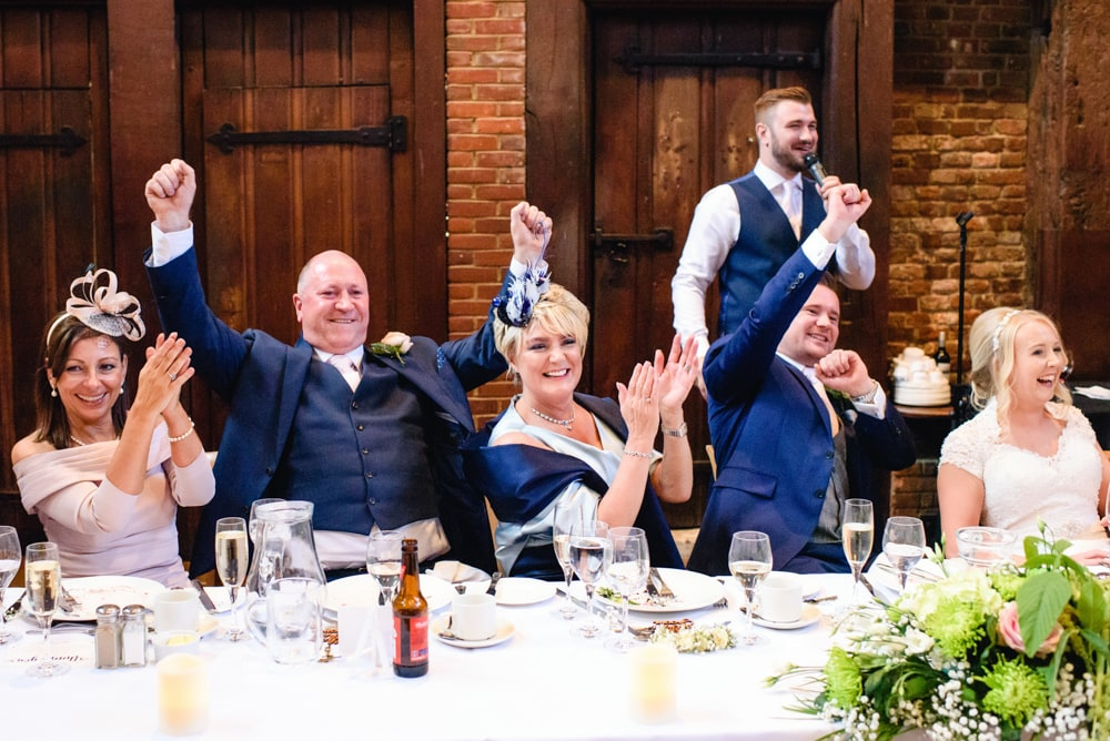 Wedding speeches at Hatfield House