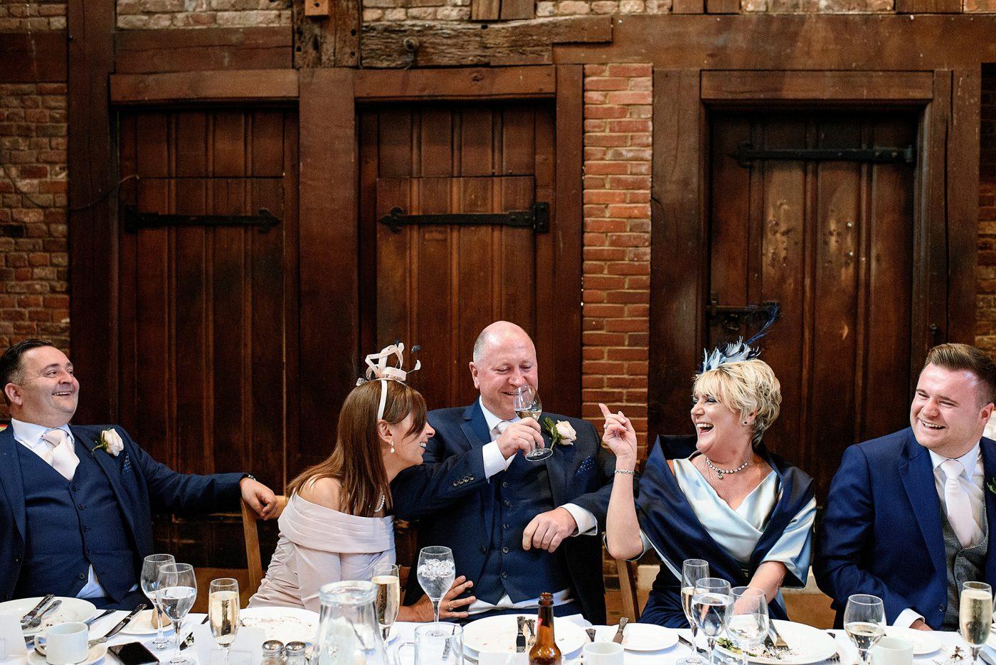 wedding toasts at hatfield house