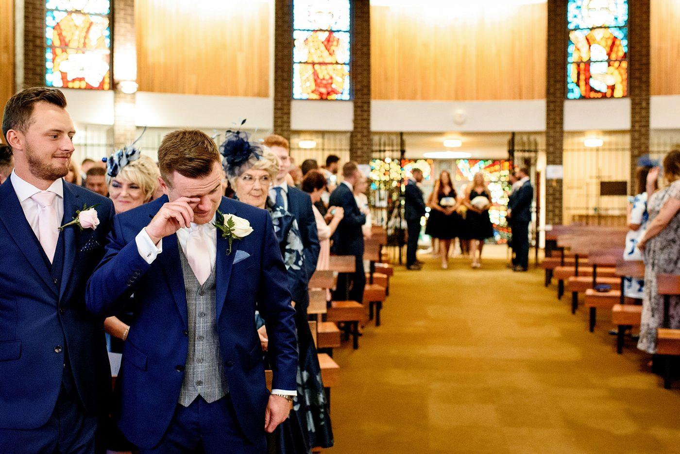 getting getting emotional before wedding ceremony