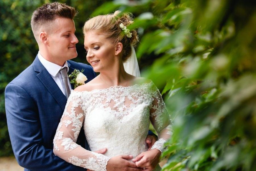 Bride and Groom at Tewin Bury Farm Wedding, Hertfordshire