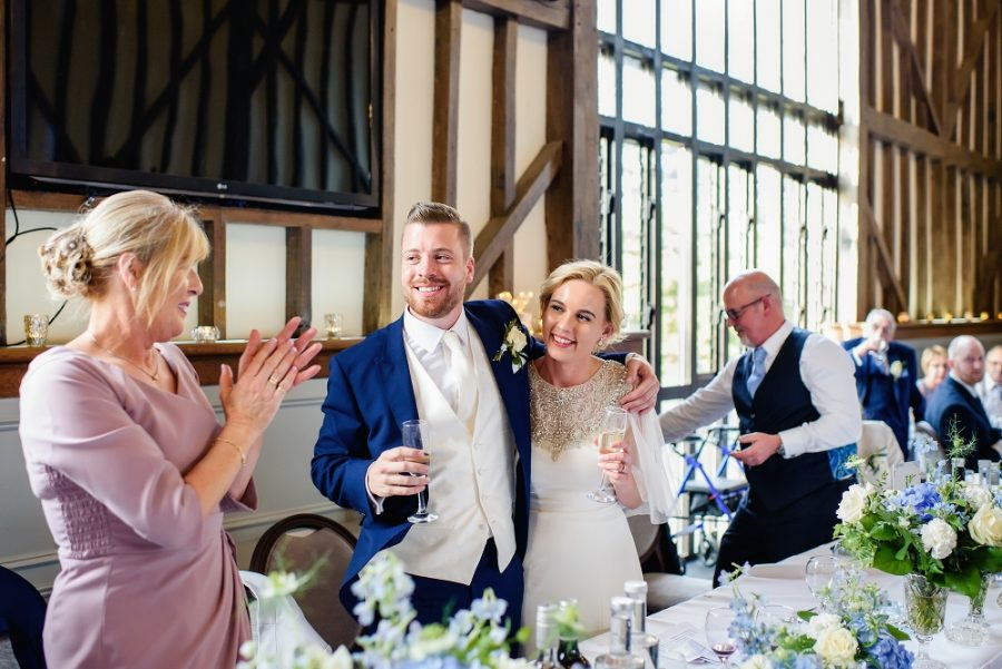 bride and groom toast wedding speeches