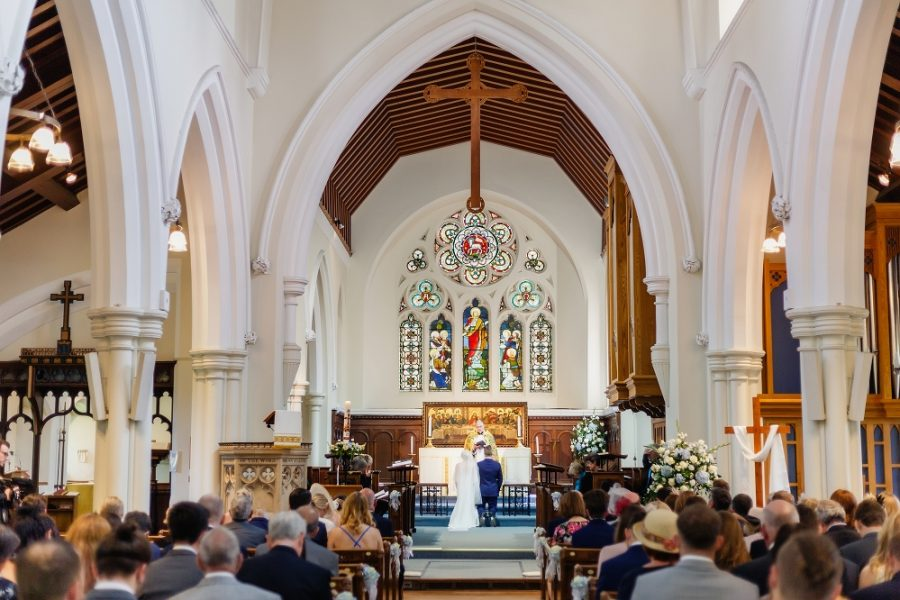 wedding ceremony at st johns church