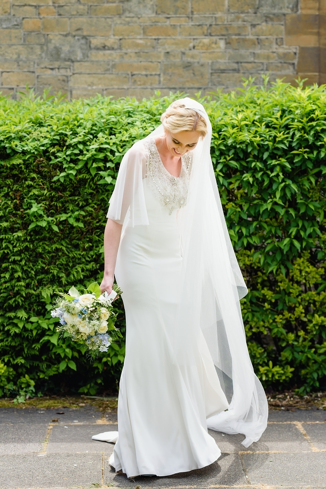 bride at hemel hempstead church wedding