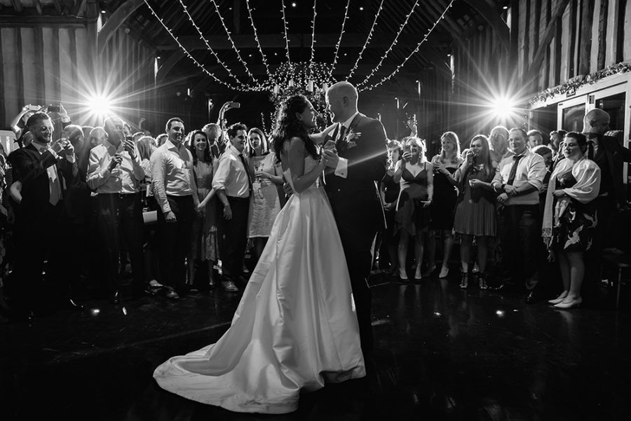 first dance at lillibrooke manor wedding venue