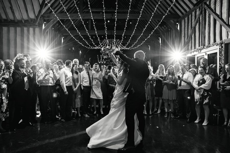 couple dancing in barn at lillibrooke