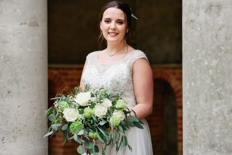 bridal portrait at wotton house wedding