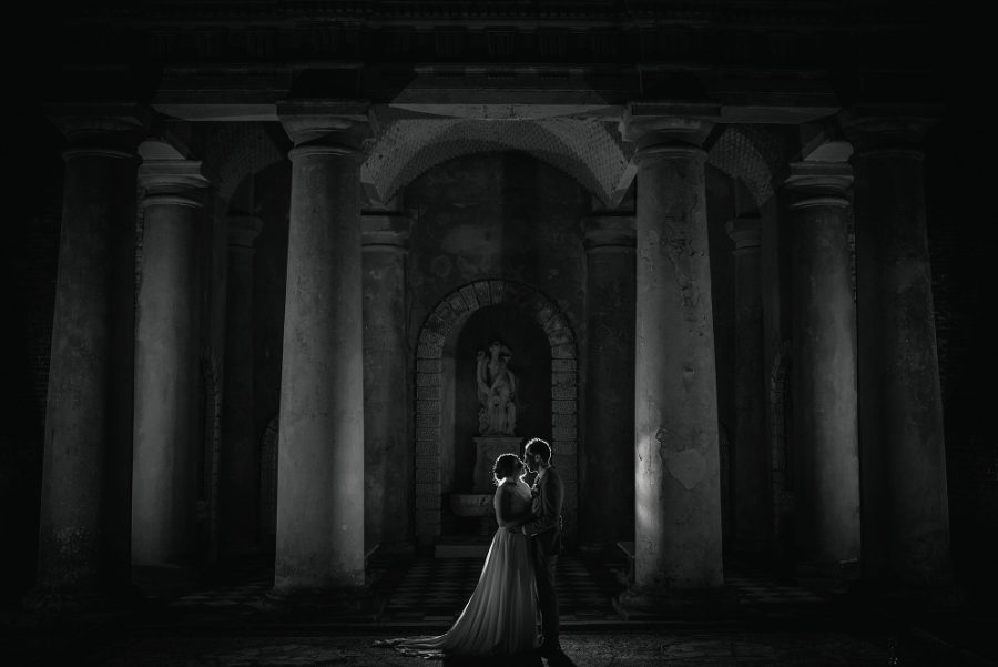 creative nighttime portrait at wotton house