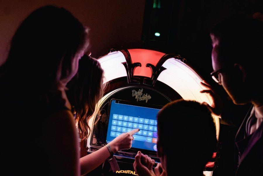 jukebox at wedding reception