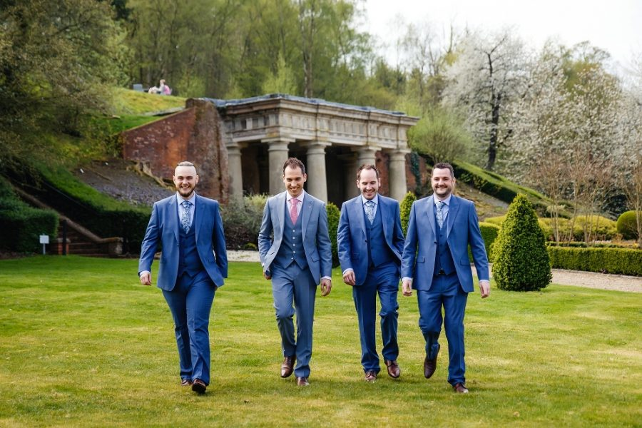 ushers walking at wotton house wedding