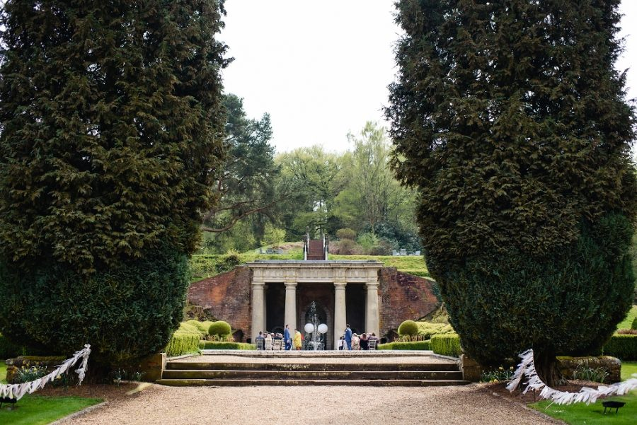 wotton hall outdoor wedding ceremony
