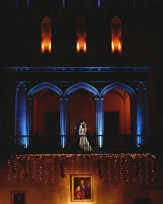 Creative wedding photography couple portrait at Ashridge House