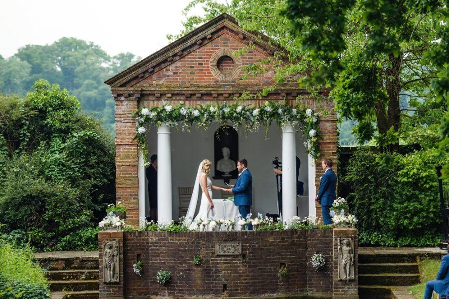 outdoor wedding ceremony rickmansworth