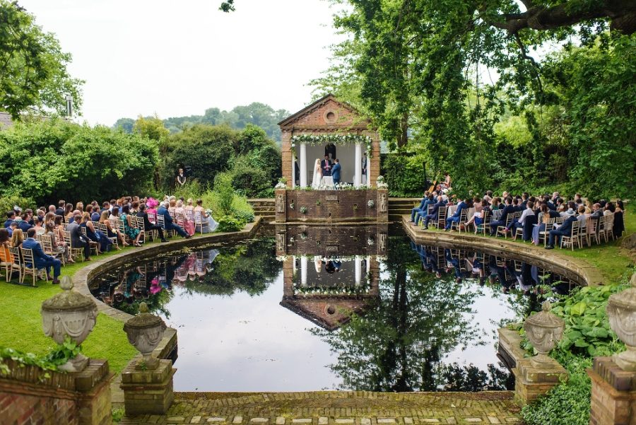 outdoor wedding ceremony hertfordshire