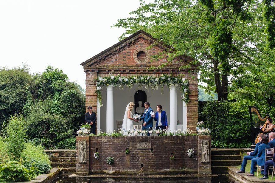 outdoor wedding ceremony micklefield hall