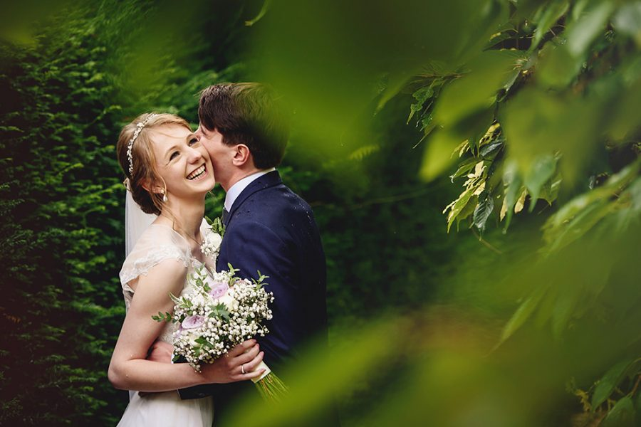 couple laughing at brockett hall wedding photography