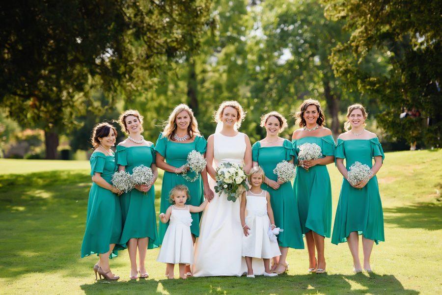 bridesmaids at hertfordshire manor house