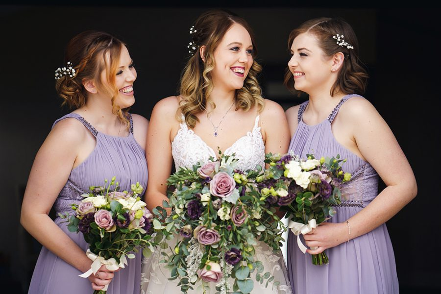 Bridesmaids makeup at milling barn