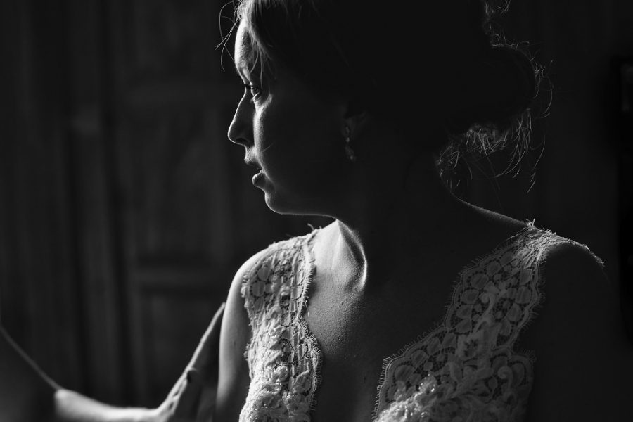 bride at manor house wedding in Hertfordshire