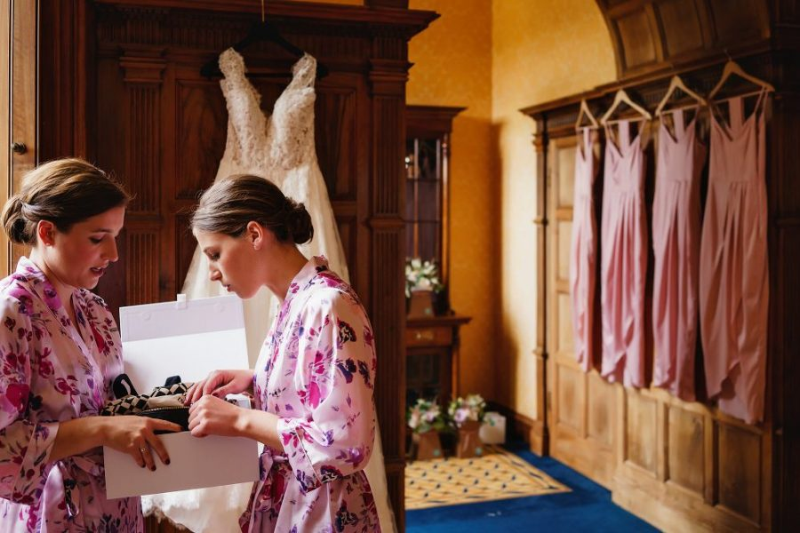 brides getting ready at luxury wedding venue