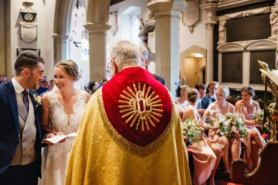 church wedding ceremony in hertfordshire