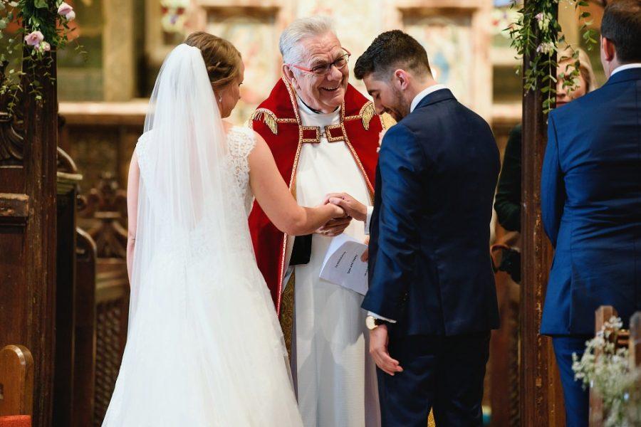 wedding ceremony in little gaddeston church