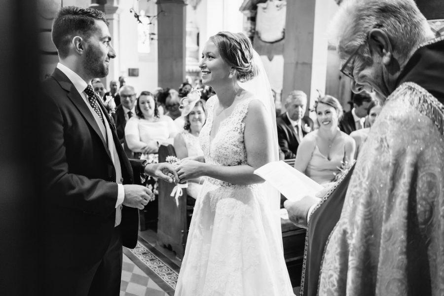 couple get married at church in little gaddeston