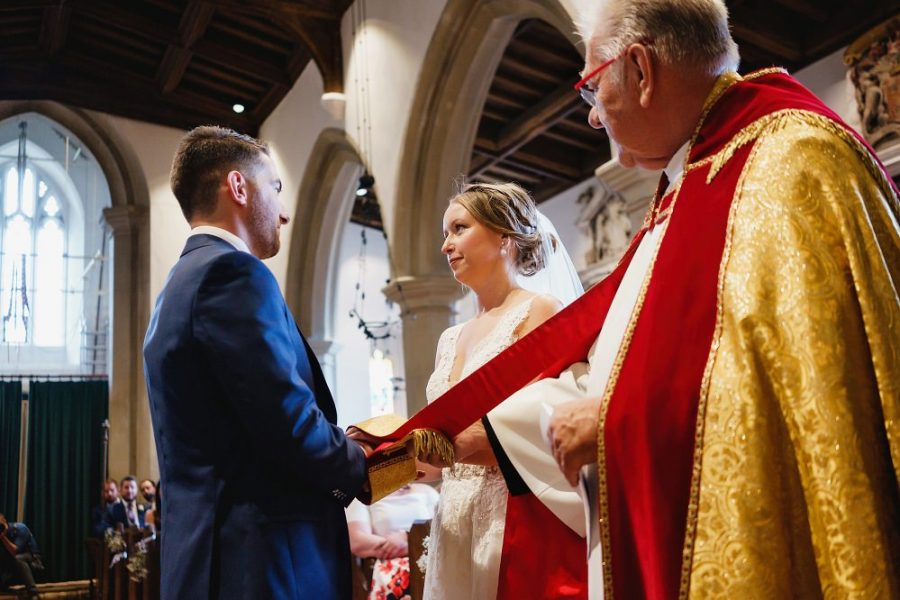 church wedding ceremony in hertfordshire