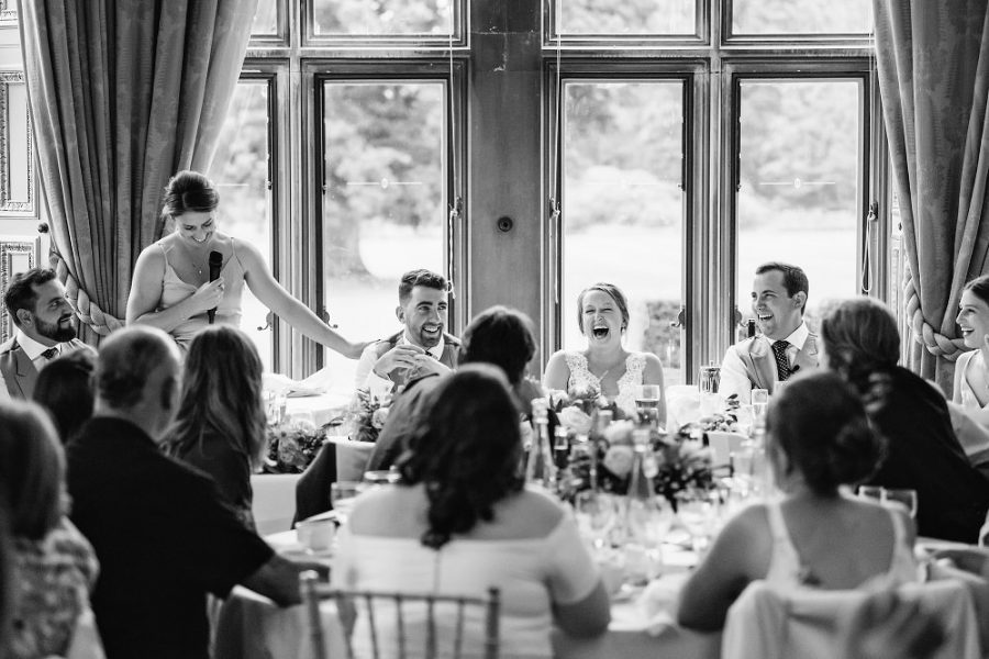 funny speech reactions wedding photo