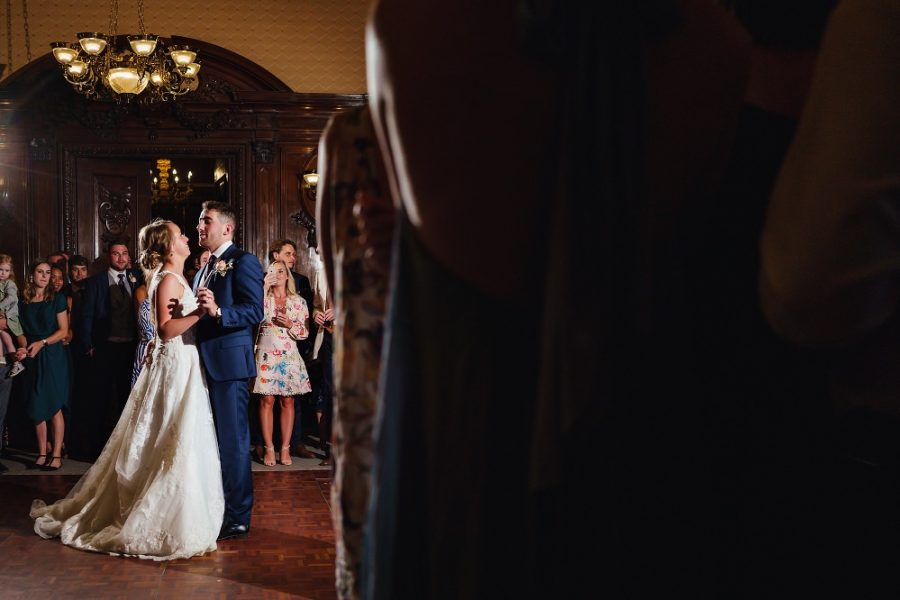 first dance at luxury stately home wedding