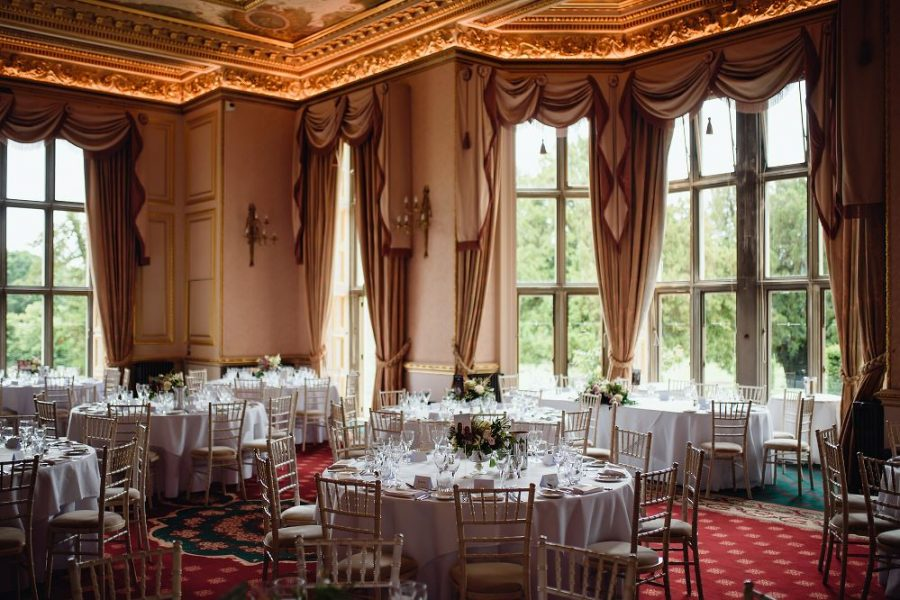 wedding reception room at hertfordshire manor house