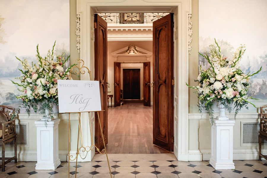 floral arrangements at hedsor house