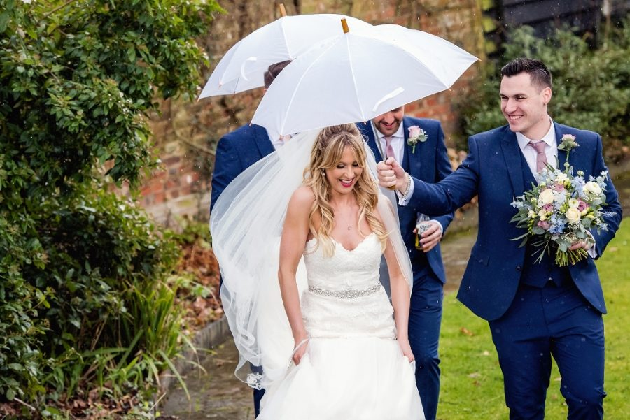 Plan for rain on your wedding day