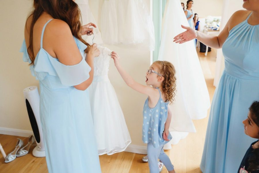 girlwer girl pick up her dress