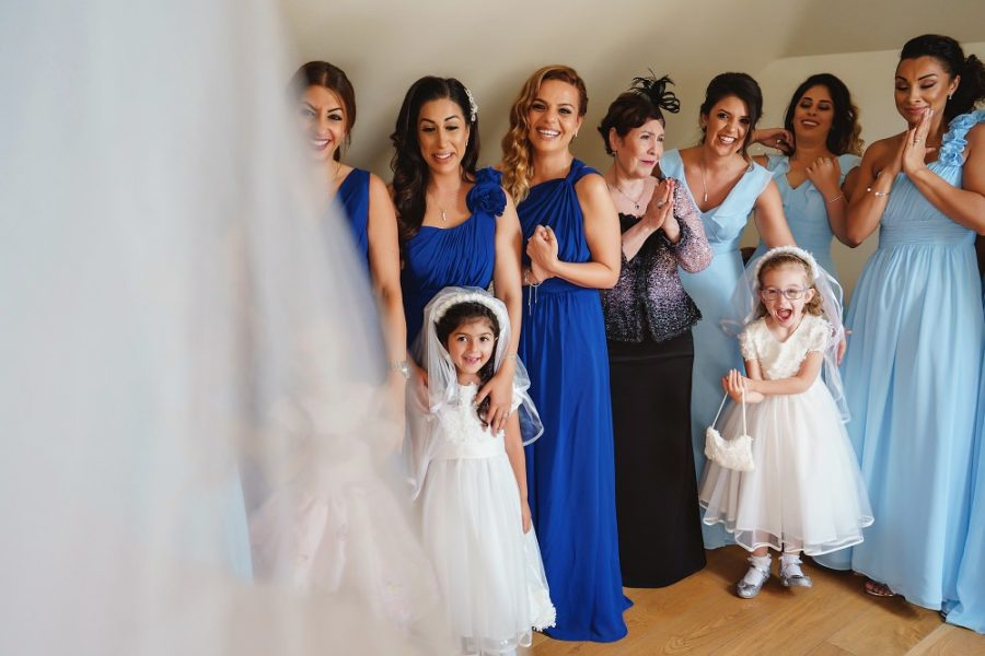 bridesmaids at micklefield hall