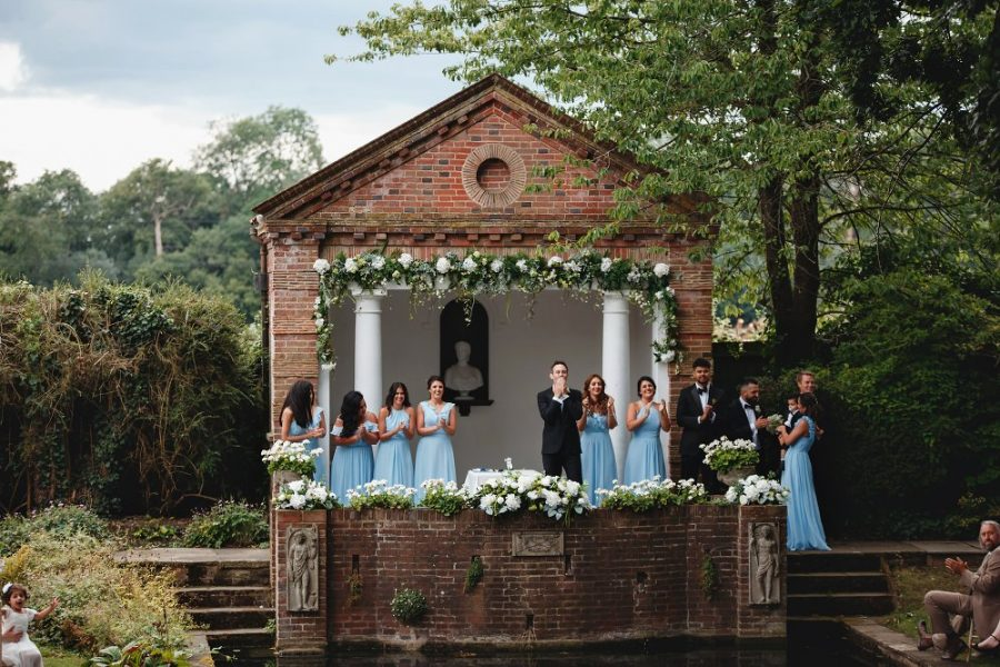 wedding ceremony at micklefield hall