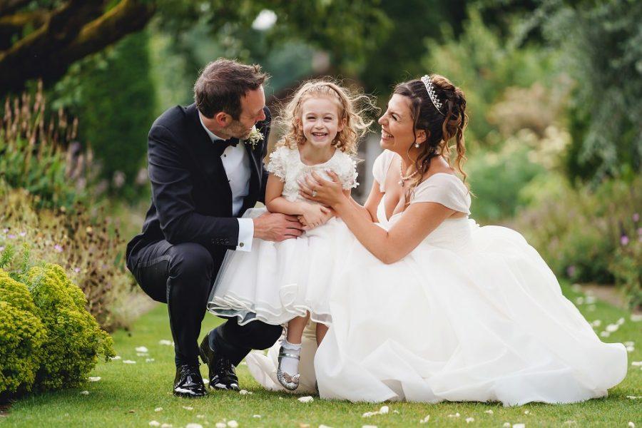 fun natural wedding family photo