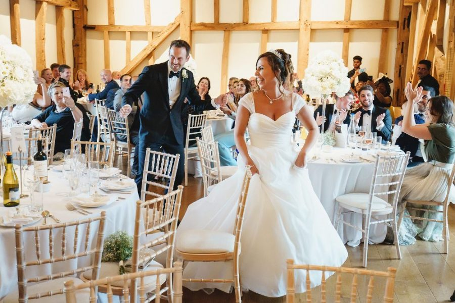 bride and groom dance entrance