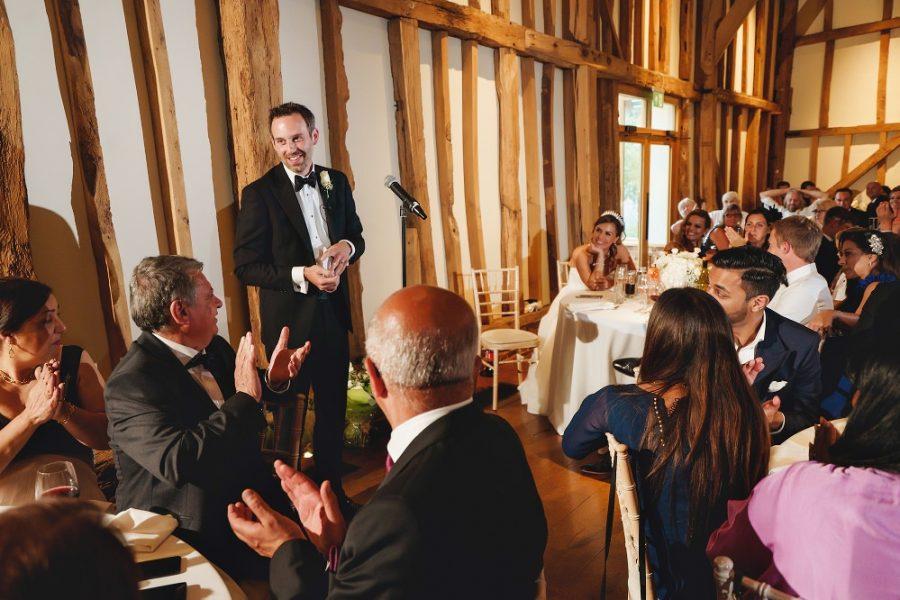 groom making a speech